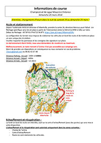 Informations de course CLMD Page 1